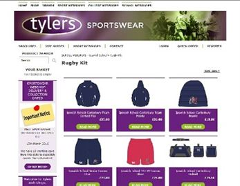 webshop screen shot