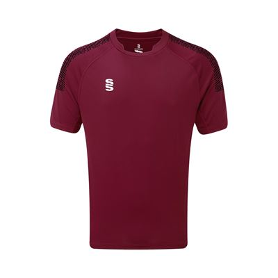 DU009 Coloured Shirt Maroon-Black