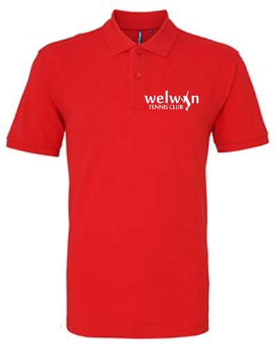 Unisex Red Polo logo