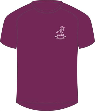 Batten House Maroon Tee