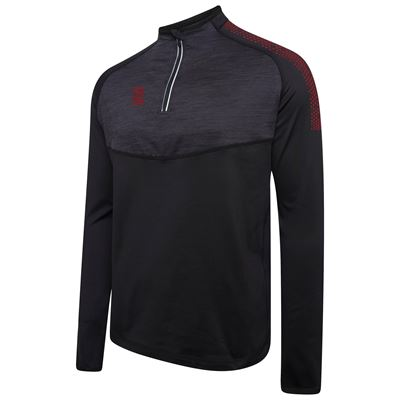 DU013 Dual Performance Top Black-Maroon