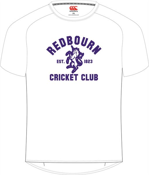 Redbourn CCC Printed Tee (wHITE)
