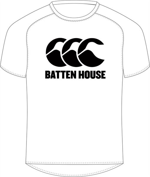 Batten House White Tee